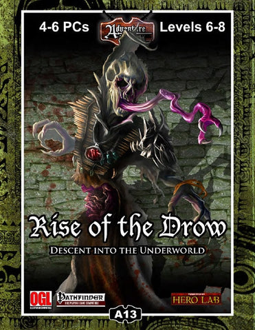 A13: Rise of the Drow–Descent into the Underworld PDF