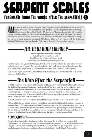 Serpent Scales #1: The New Konfederacy (Savage Worlds) PDF