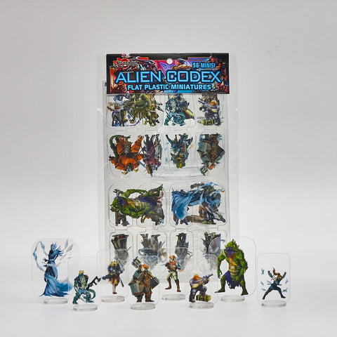 Flat Plastic Miniatures - Legendary Games Alien Codex