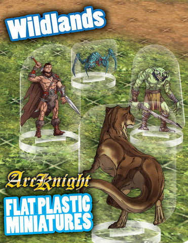 Flat Plastic Miniatures: Wildlands