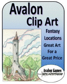 Avalon Clip Art, Fantasy Locations PDF