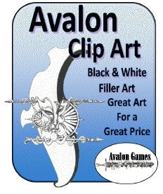 Avalon Clip Art, B&W Filler PDF