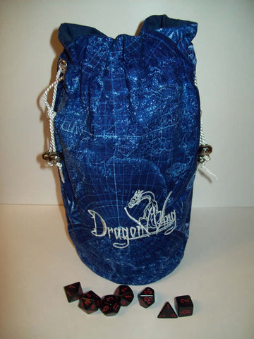 DragonWing Dice Bag Large Blue/Silver