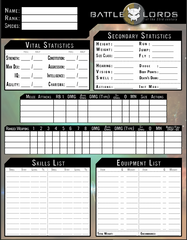 Battlelords of the 23rd Century Kickstarter Edition Character Sheets Set PDF