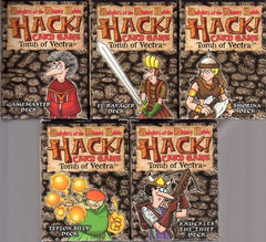 Knights of the Dinner Table: Hack! Card Game Tomb of Vectra (1 each of the 5 decks)