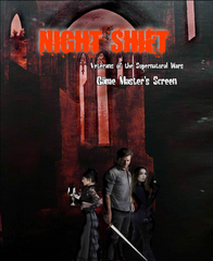 Night Shift: Veterans of the Supernatural Wars GM Screen PDF