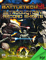 Battletech: Introductory Record Sheets PDF