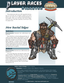 Player Races: Dwarves PDF