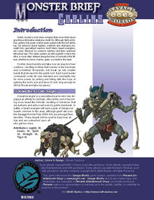Monster Brief: Goblins PDF