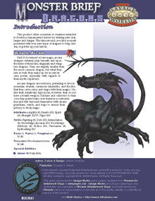 Monster Brief: Dragons PDF