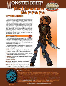 Monster Brief: Halloween Horrors PDF
