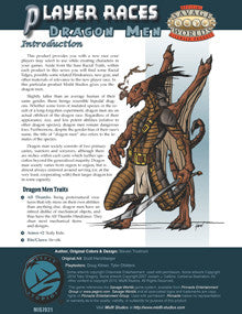 Player Races: Dragon Men PDF