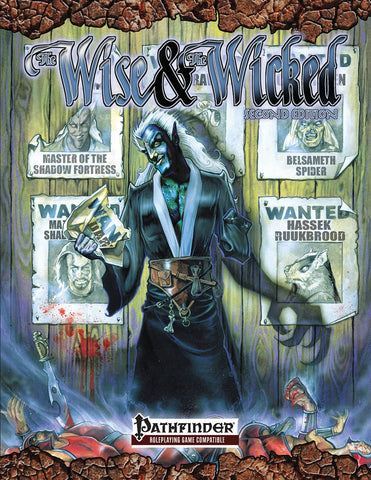 Scarred Lands Wise & The Wicked 2nd Edition for Pathfinder