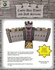 Castle Keep Dice Tower and DM Screen Combo