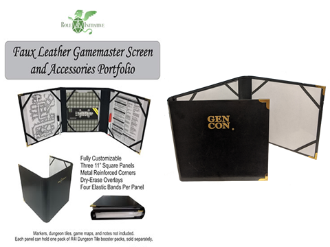 Gen Con Edition - Faux Leather Gamemaster Screen and Accessories Portfolio