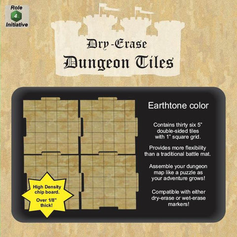 Dungeon Tiles - Earthtone - Pack of 36 five inch squares