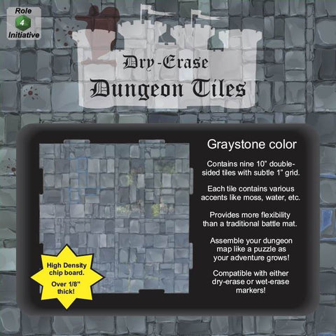 Dungeon Tiles - Graystone - Pack of 9 ten inch squares