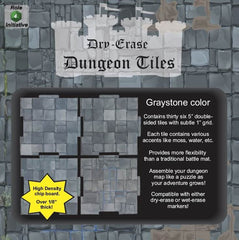 Dungeon Tiles - Graystone - Pack of 36 five inch squares