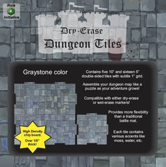 Dungeon Tiles - Graystone – Combo Pack of 5 ten inch and 16 five inch squares