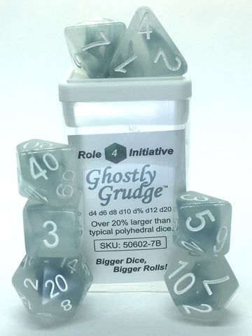Set of 7 Polyhedral Dice : Ghostly Grudge™
