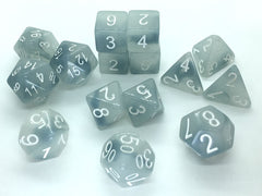 Set of 15 Polyhedral Dice : Ghostly Grudge™