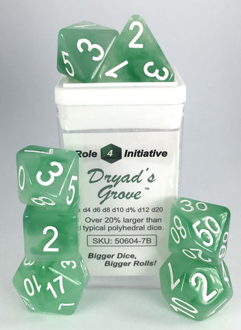 Set of 7 Polyhedral Dice : Dryad's Grove™