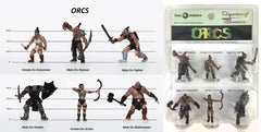 Characters of Adventure - Set of 6 Orcs