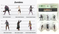 Characters of Adventure - Set of 6 Zombies