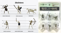 Characters of Adventure - Set of 6 Skeletons