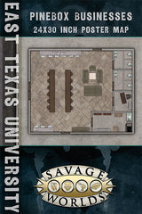 East Texas University Map: Business/Library