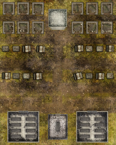 Deadlands Noir Map: Cemetery/Crypt