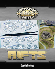 Savage Rifts® Map: North America & Castle Refuge