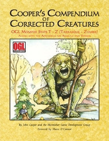 Cooper's Compendium of Corrected Creatures: OGL Monsters T–Z PDF