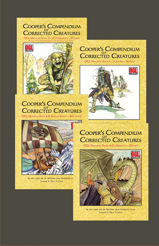 Cooper's Compendium of Corrected Creatures Bundle (4 Books) PDF