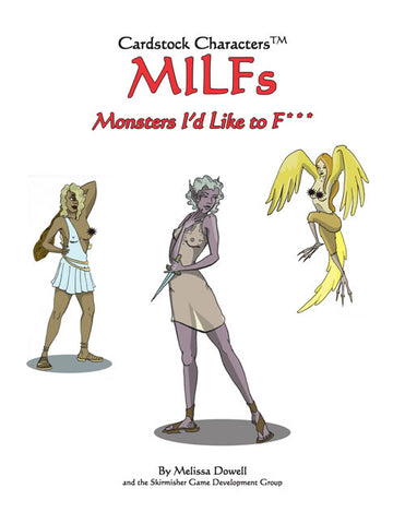 MILFS: Monsters I'd Like to F*** Cardstock Characters PDF