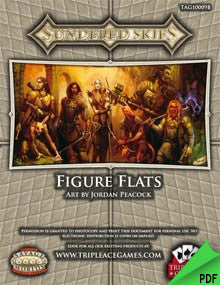 Sundered Skies: Figure Flats PDF (Savage Worlds)