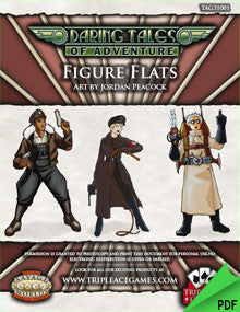Daring Tales of Adventure: Figure Flats PDF (Savage Worlds)