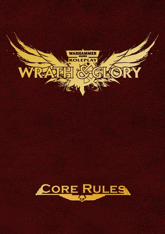 Wrath & Glory Core Rules Leatherette Red