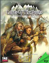 Lords of the Peaks: Guide to Giants (d20) PDF