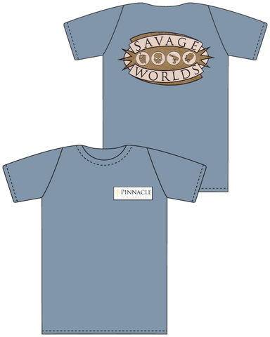 Savage Worlds T-Shirt (Blue)