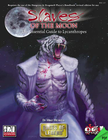 Slaves of the Moon: Guide to Lycanthropes (d20) PDF