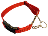 Half Chain Martingale + Plastic Quick Release SMALL - 6 Dollar Collars