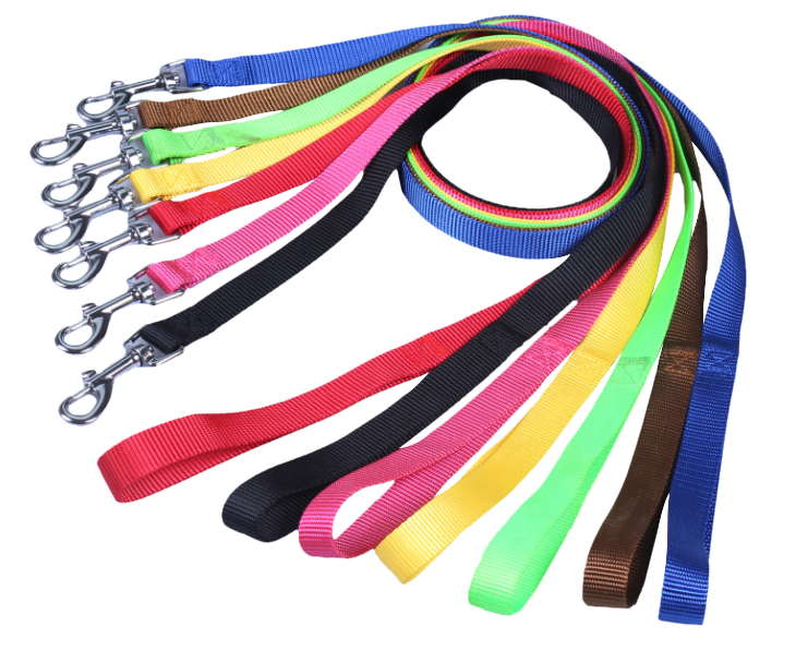 "Nylon Dog Leash 5/8"" Wide 4' Long - 6 Dollar Collars"