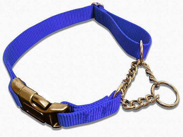 Half Chain Martingale + METAL Quick Release Large - 6 Dollar Collars