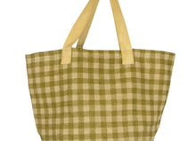 Load image into Gallery viewer, Gingham Jute Shopper