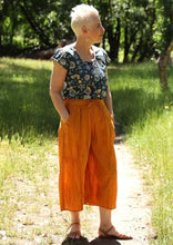 Load image into Gallery viewer, 3/4 Palazzo Pants Tumeric