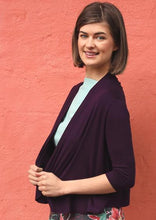 Load image into Gallery viewer, Bolero Cardi in Aubergine