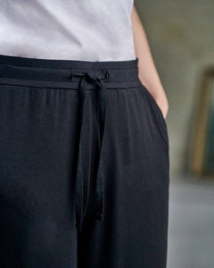 Tapered Soft Jersey Trouser - Black