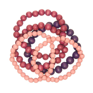 Berry Blush 5 Strand Bracelet