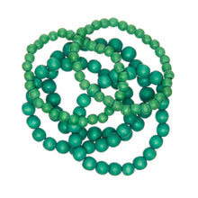 Load image into Gallery viewer, Summer Greens 5 Strand Bracelet